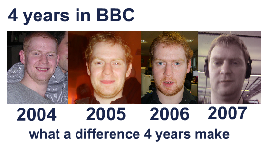 4 years in the beeb